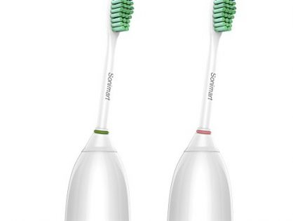 Sonimart Premium Standard Size Replacement Toothbrush Heads for Philips Sonicare e-Series HX7022, 2 pack, fit Sonicare Advance, CleanCare, Elite, Essence and Xtreme Philips Brush Handles
