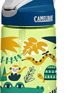 CamelBak Eddy Kids Water Bottle, Jungle Animals, .4 L