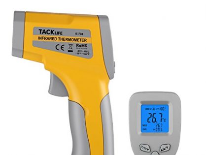 Tacklife IT-T04 T04 Advanced Digital Infrared Thermometer-58°F~1022°F -50°C~550°C Temperature Gun with Battery Monitoring Adjustable Emissivity for Kitchen Automotive
