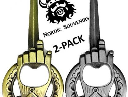 Unique GOT Custom Cap Lifter Collectible Accessories - Bronze and Silver - Game Of Thrones Style - Hand Of The King Bottle Opener 2-Pack - Perfect Barware Man Cave Gift