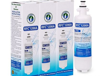 OnePurify RFC1200A3PK Kenmore 46-9690 LG ADQ36006101 Compatible Refrigerator Water Filter 3 Pack