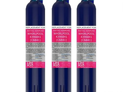 3 Pack Refrigerator Water Filter 4396841 4396710 Filter3 Replacement by LifeH2O | Advanced Filtration Technology | Easy Installation | Compatible with Maytag Whirlpool Kenmore and PUR Fridge Models