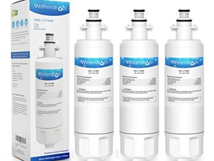 3 Pack Waterdrop LT700P Replacememt for LG LT700P, ADQ36006101, KENMORE 469690 Refrigerator Water Filter