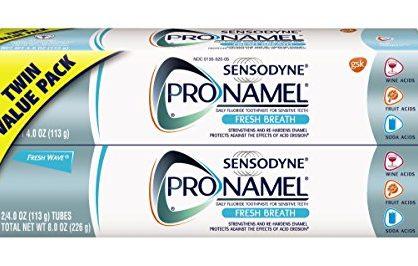 Sensodyne ProNamel Fresh Breath Toothpaste, 2 Pack of 4 Ounce Tubes 8 Ounces Total