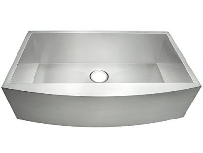 "AKDY 33"" Single Bowls 16 Gauge Undermount Apron Handmade Stainless Steel Kitchen Sink"