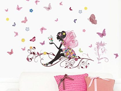Wall Sticker,Laimeng,New Butterfly Flower Fairy Bedroom Living Room Decal