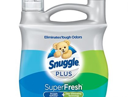 Snuggle Plus Super Fresh Liquid Fabric Softener with Odor Eliminating Technology, 95 Fluid Ounces