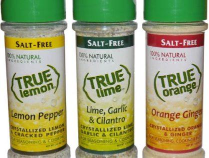 True Lemon Pepper, Orange Ginger, & Lime Garlic Cilantro Spice Shaker Kit
