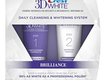 4.0 Oz and 2.3 Oz Tubes - Crest 3D White Brilliance Toothpaste, Teeth Whitening and Deep Cleansing via Daily Two-Step System