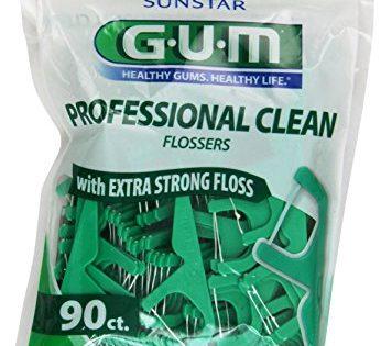 Gum Eez-Thru Flossers Mint, 90 count Pack of 3