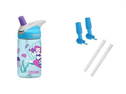 Magical Mermaids Bottle with 2 Bite Valves/2 Straws