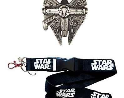 Millennium Falcon Bottle Opener 4pc Gift Set - Fully Functional Metal Star Wars Millenium Keychain Opener + Lanyard + 2 Bonus Fan items
