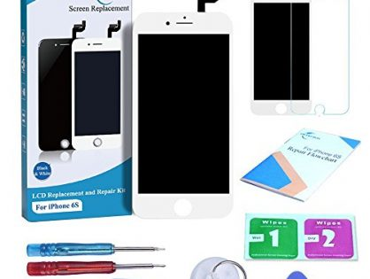 White, Repair Tools Kit and Instructions are Included - Qi-Eu LCD Display for iPhone 6S 4.7 inch Touch Screen Digitizer Replacement with 3D Touch Full Assembly
