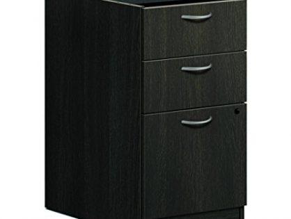 "HON BL Laminate File Pedestal with 2 Box and 1 File Drawer, 15 5/8"", Espresso Finish"