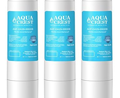 AQUACREST DA29-00020B Replacement for Samsung DA29-00020B, DA29-00020A, HAF-CIN/EXP, 46-9101 Refrigerator Water FilterPack of 3
