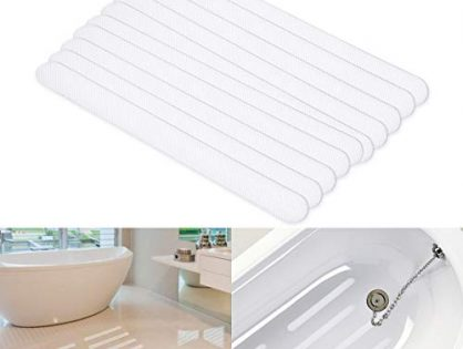 SAFETYON Bathtub Stickers Non-slip Strips 30 Pcs Anti Skid Tape for Shower, Tub, Steps, Floor Extra Strength Adhesive Grip Safety Treads for Baby, Senior, Adult Clear