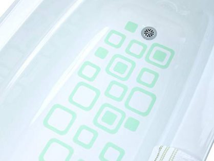 SlipX Solutions Adhesive Square Safety Treads Add Non-Slip Traction to Tubs, Showers & Other Slippery Spots - Design Your Own Pattern! 21 Count, Reliable Grip, Green