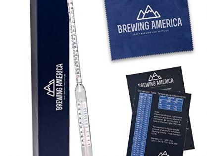 Thermo-Hydrometer ABV Tester Triple Scale: Pro Series American-Made Specific Gravity Hydrometer with Thermometer Temperature Correction, N.I.S.T Traceable