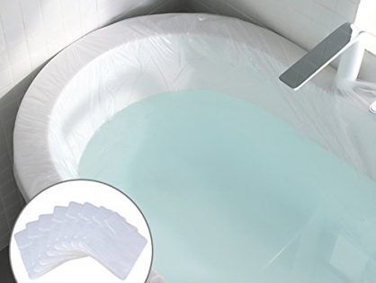 8 Pack Ultra Large Disposable Individual Plastic Bathtub Bag Cover Liner for Salon, Household and Hotel Bath Tubs - 86 x 47 inches