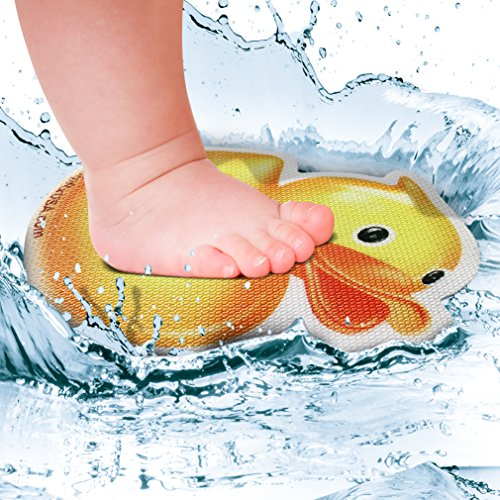 "SlipRx USA Nonslip Bathtub Or Shower Stickers Safety Adhesive Duck | Non-Toxic, Anti-Bacterial, Mold and Mildew Resistant, Antislip Surface Area-6"" Diameter Mat 