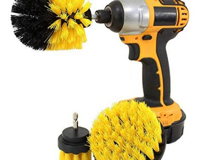 Drill Brush Attachment Set 3 Pack Kit Scrub Power Scrubber Drill Cleaning Brush Cleaner Scrubbing Brushes Bath Pool Tile Bathtub Kitchen Auto Water Stains Clean Helper