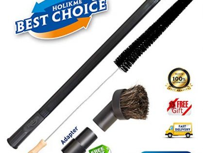 Dryer Cleaning Kit General Vacuum Hose Attachment Flexible and 28 inch Flexible Dryer Vent Cleaning Brush and Refrigerator Coil Brush.