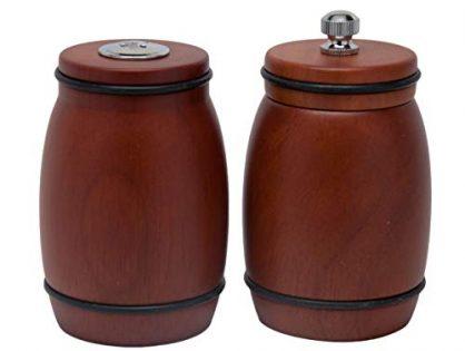 Wooden Salt and Pepper Shakers Red-Brown Coffee Pepper Grinder Wood Salt Shaker Set Pepper Mill Grinder Set