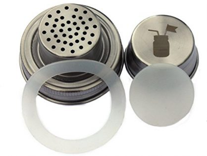 Cocktail Shaker Lid with Silicone Seals for Regular Mouth Mason, Ball, Canning Jars