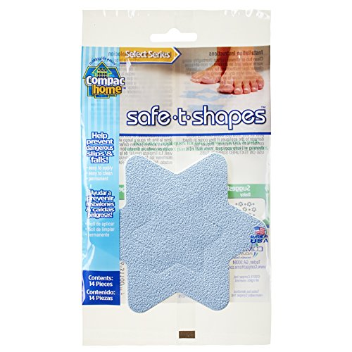 Compac Select Safe-T-Shapes Bathtub Decals, Blue Star, 14 Count