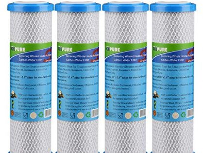 """GOLDEN ICEPURE Whole House Sintering Activated Carbon Water Filter 10"""" Compatible with Dupont WFPFC8002, WFPFC9001,Culligan P5-D,Filtrete mpr1000,WHCF-WHWC"""
