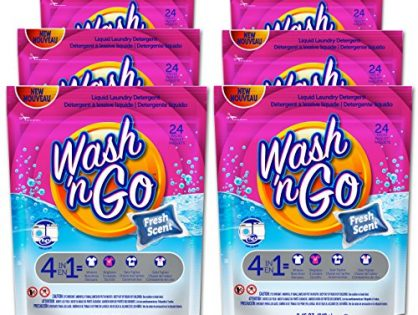 Wash 'n Go Liquid Detergent Singles Fresh Scent, 24 Count x 6 144 Count Total
