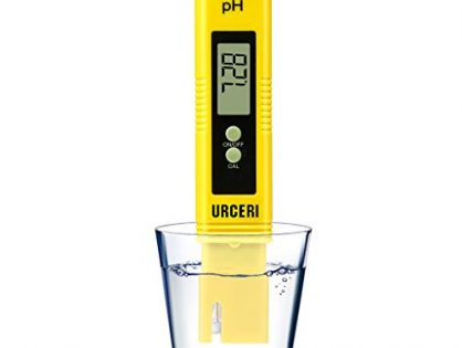 URCERI Digital PH Meter, PH Meter 0.01pH High Accuracy, Water Quality Tester with 0-14pH Measurement Range, for Household Drinking Water Swimming Pools Aquariums and Hydroponics