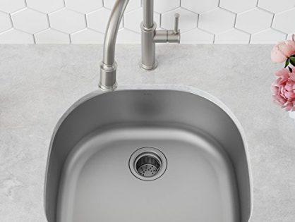 Kraus KBU10 23 inch Undermount Single Bowl 16 gauge Stainless Steel Kitchen Sink