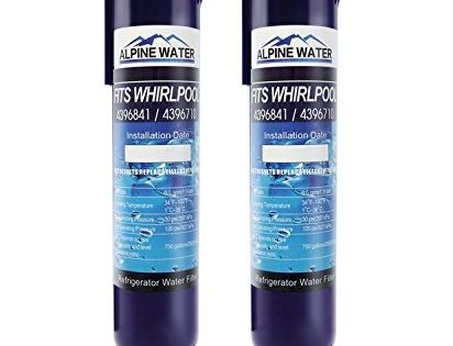 ALPINEWATER Compatible with Refrigerator Water Filter 4396841, 4396710, Kenmore 9030, 9083, Filter 3, EDR3RXD1 2-Pack, Blue