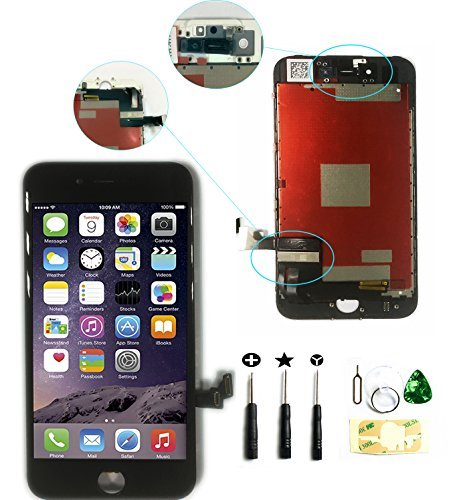 "ZTR LCD Touch Screen Digitizer Frame Assembly Full Set LCD Touch Screen Replacement for iPhone 7 plus 5.5"" - Black"