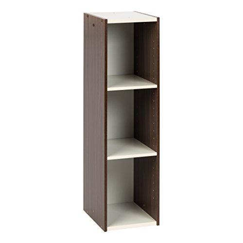 "IRIS USA, UB-9025, Space Saving Shelf with Adjustable Shelves, 10 x 34"", Walnut Brown, 1 Pack"