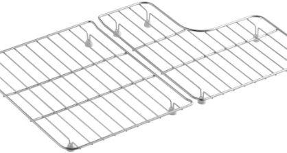 KOHLER K-6638-ST Sink Racks for 30-Inch Whitehaven Sinks, Stainless Steel