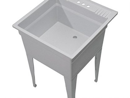 CASHEL Heavy Duty Free-Standing Utility Sink - Essential Sink Kit, 1960-20-02, Granite