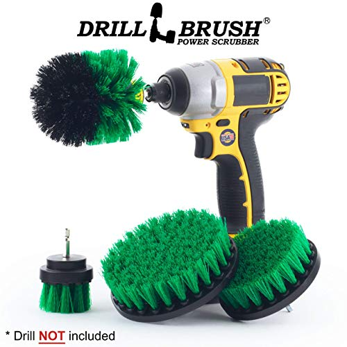 Backsplash - Oven - Grout Cleaner - Dish Brush - Cast Iron Skillet - Sink - Flooring - 4 Drill Powered Kitchen Brush - Cleaning Supplies - Tile - Stove - Kitchen Accessories - Drill Brush - Spin Brush
