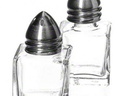 American Metalcraft SP125 Petite Glass Salt & Pepper Shaker