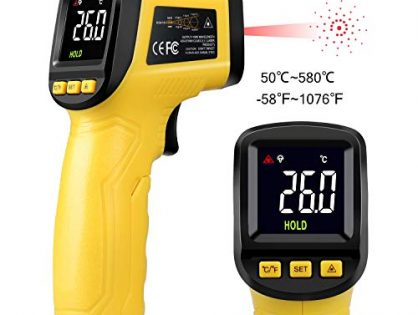 URCERI Infrared Thermometer Digital IR Temperature Gun -58℉ to 1076℉ with food thermometer Automatic Power-Off Mode Accurate Results Humidity Tester for Cooking Automotive Industrial Use