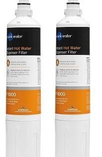 InSinkErator F-1000 Replacement Water Filter, 1-Pack of Under Sink Water Filter Cartridge for Water Filtration Kit 2-Pack