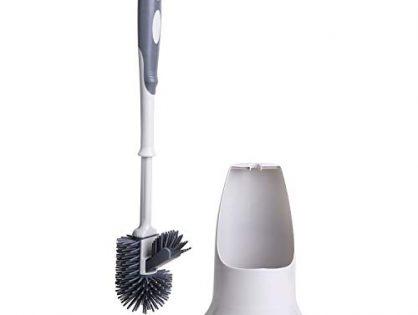 TreeLen Toilet Brush Set,Toilet Bowl Cleaner Brush and Holder, Toilet Brush with Holder