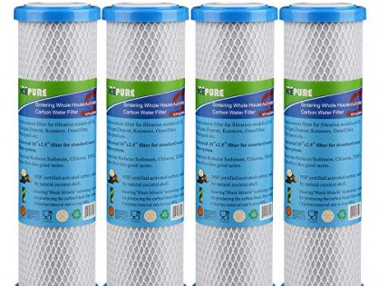 "GOLDEN ICEPURE Whole House Sintering Coconut Shell Activated Carbon Water Filter Compatible with Dupont WFPFC8002, WFPFC9001, Culligan P5-D, SCWH-5, Filtrete mpr1000, WHCF-WHWC10""x2.5"""