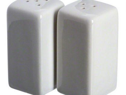 American Metalcraft CSPS3 Square Ceramic Salt & Pepper Shakers Set of 2