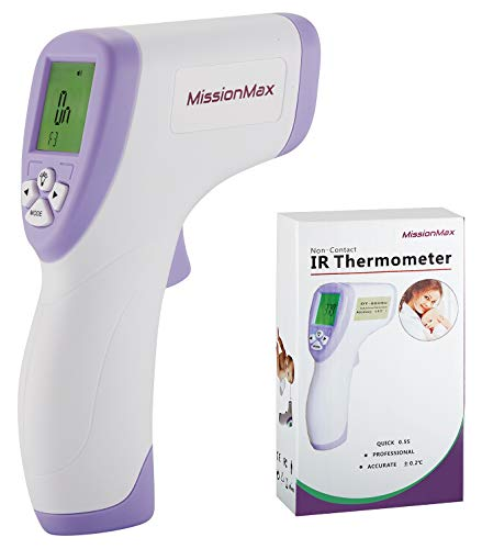Infrared Forehead Thermometer Instant Read Non Contact for Baby, Kids & Adults – Fahrenheit or Celsius Settings by MissionMax