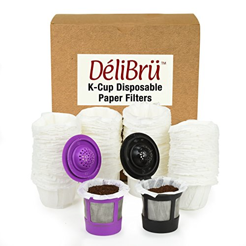 Disposable Paper Filters for Reusable K Cups Fits All Brands - Disposable K Cup Paper Filter 100/Box