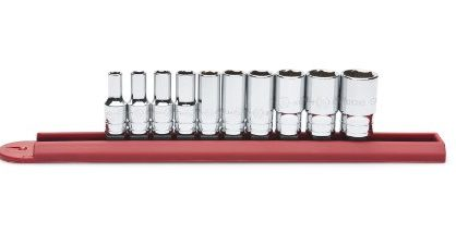 GearWrench 80305S 10-Piece 1/4-Inch Drive 6-Point Mid Length Socket Set SAE