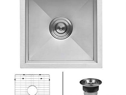 RVH7113 - Ruvati 13 x 15 inch Undermount 16 Gauge Zero Raduis Bar Prep Kitchen Sink Stainless Steel Single Bowl