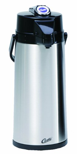 TLXA2201S000 Each - Commercial Airpot Pourpot Beverage Dispenser - Wilbur Curtis Thermal Dispenser Air Pot, 2.2L S.S. Body S.S. Liner Lever Pump